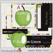 Apple Easel Card for Thank You, Back To School etc.