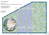 "Three Fold Water's Edge ""Night Owls"" Card Sheet"