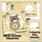 Kitty 2 6x6 Scallop Foldback Card
