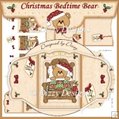 Christmas Bedtime Bear - Four Fold Card Set