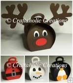 Set of 4 Festive Curvy Box Characters