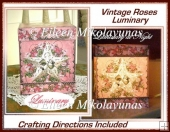 Vintage Roses Luminary Box with Crafting Directions