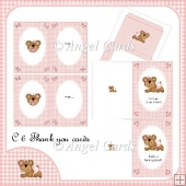 BABY GIRL C6 THANK YOU CARDS