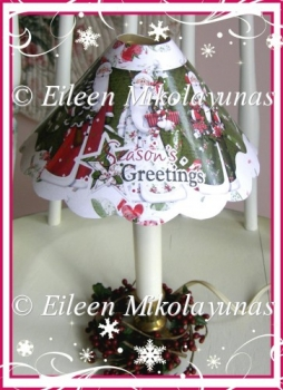 Simple Joycs Country Santa Lampshade Printable with Directions