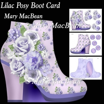 Lilac Posy Boot Card