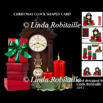 Christmas Clock Shaped Card