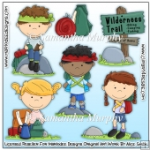 Hiking Children Clip Art Download