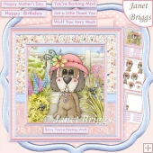 POPPY'S NEW HAT 8x8 All Occasions Decoupage & Insert Kit
