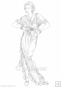 Art Deco Lady Elise Digi Stamp