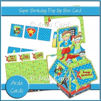 Super Birthday Pop Up Box Card