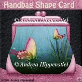 Handbag Shape Card pink