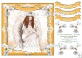 "Guardian Angel (2) - 7.5"" x 7.5"" Card Topper"