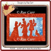 176 Christmas Carolers Card *Multiple MACHINE Formats*