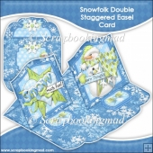 Snowfolk Double Staggered Easel Card