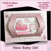 Push to Beau Card - New Baby Girl