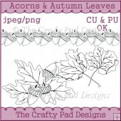Acorns & Autumn Leaves