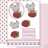 Strawberry Mouse Decoupage