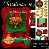 Joy Christmas Bracket Card Kit