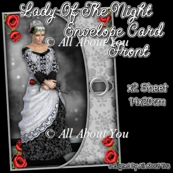 Lady Of The Night Envelope Card Front