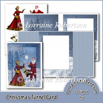 Christmas Tunnel Card