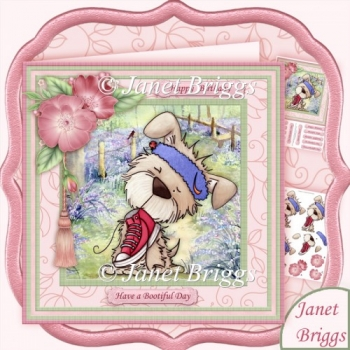 Have a Bootiful Day 8x8 Decoupage Kit