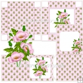 Pink Poppy Notelet Set