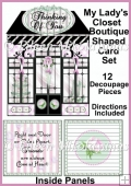 My Lady's Closet Boutique Shaped Card Set