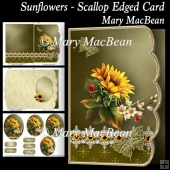 Sunflowers - Scallop Edged Card