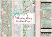 Morning Glory Backing Background Papers Set of 5
