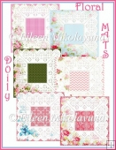 Designer Resource Floral Doily Mats Set