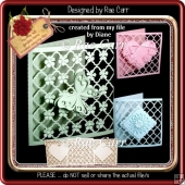 284 Set of 6 Lattice Toppers & Cards *Multiple MACHINE Formats*