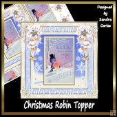 Christmas Robin Topper