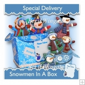 Snowmen in a Box 3d Card