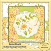 Perfect Floral 1 Scallop Pyramage Card Front