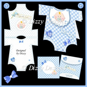 Baby Boy Onesie Card Kit