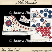 Sneaker Shoe Shape Card all Amerika