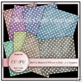 CU/PU Papers - Flowers n Dots Bolds