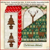 Gift Box Card - Christmas Reindeer