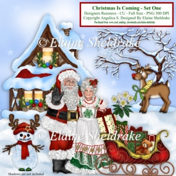 Christmas Is Coming Set One - Designers Resource CU PNG 300 DPI
