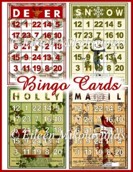 Season of Love Bingo Card Christmas Toppers Set