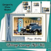 Vintage Garage Birthday Mini Kit