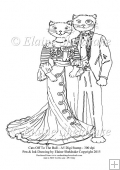 Posh Cats Off To The Ball- A5 Digi Stamp