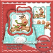 Merryrudolph Regal Shaped Easel Card