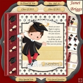 GRADUATION BOY 7.5 Decoupage & Insert Kit