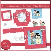 Elfis Loves Christmas 3D Picture Frame Decoration