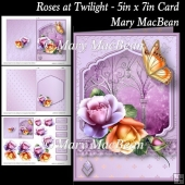 Roses at Twilight - 5in x 7in Card