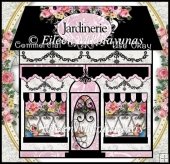 Commercial Use JARDINERIE French Garden Center Boutique Clipart