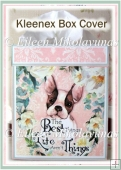 Puppy Love Kleenex Tissue Box Cover