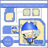 Baby It's Cold Outside Scalloped Corner Card