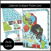 Celebrate Scalloped Pocket Card